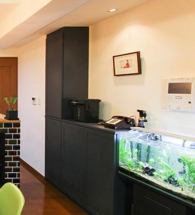 オーダー家具 リビング収納 (変えたのはキッチンだけ!LDKが大きく変わったリノベーション)