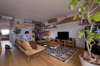 におの浜マンションリノベーション (猫と植栽と家具をテーマにしたマンションリノベ(におの浜マンションリノベーション))
