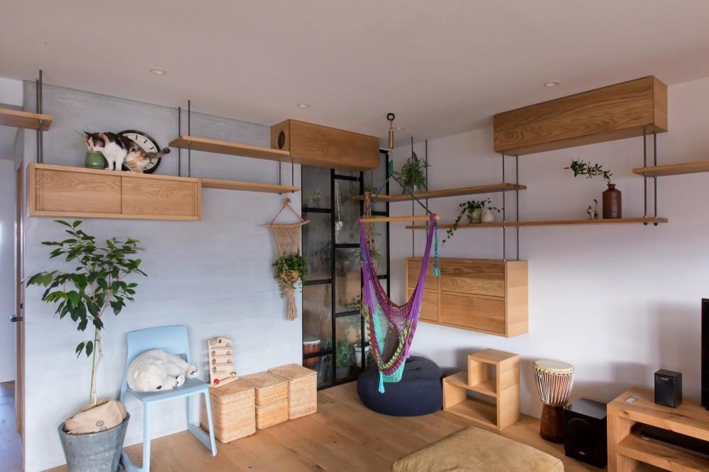 猫と植栽と家具をテーマにしたマンションリノベ(におの浜マンションリノベーション) (におの浜マンションリノベーション)