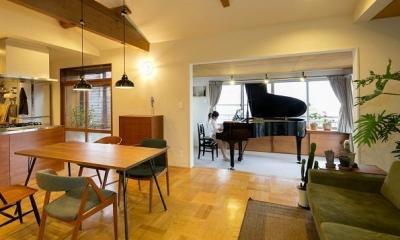 『平屋一軒家のリノベーション』 (もっとも眺望のいいピアノ室)