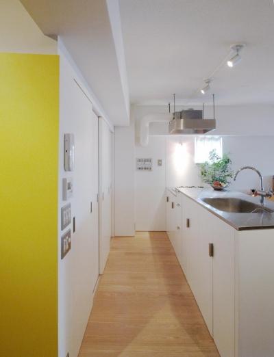 キッチン (slicey-水色と黄色で楽しい1LDKに)