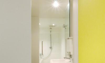 バスルーム|slicey-水色と黄色で楽しい1LDKに