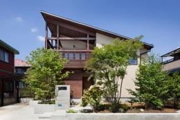長野の家 (片流れ屋根の外観)