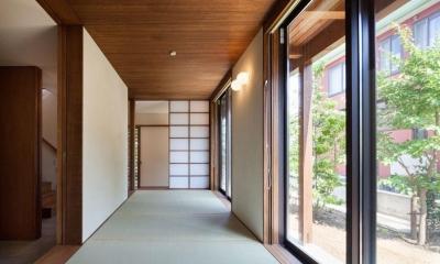 落ち着きのある和室|長野の家
