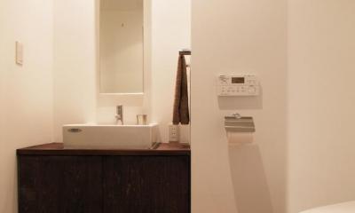 alumina-高級家具が主役のシンプルな空間 (トイレ)