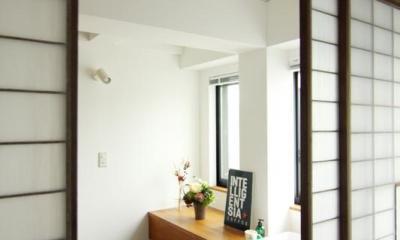 寺町の家 (2階手洗カウンター)