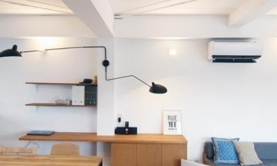 寺町の家 (3階リビング_造作カウンター)