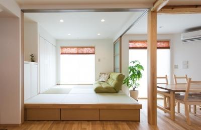 和室 (自然素材でスケルトンリフォーム!増築し、耐震補強も)