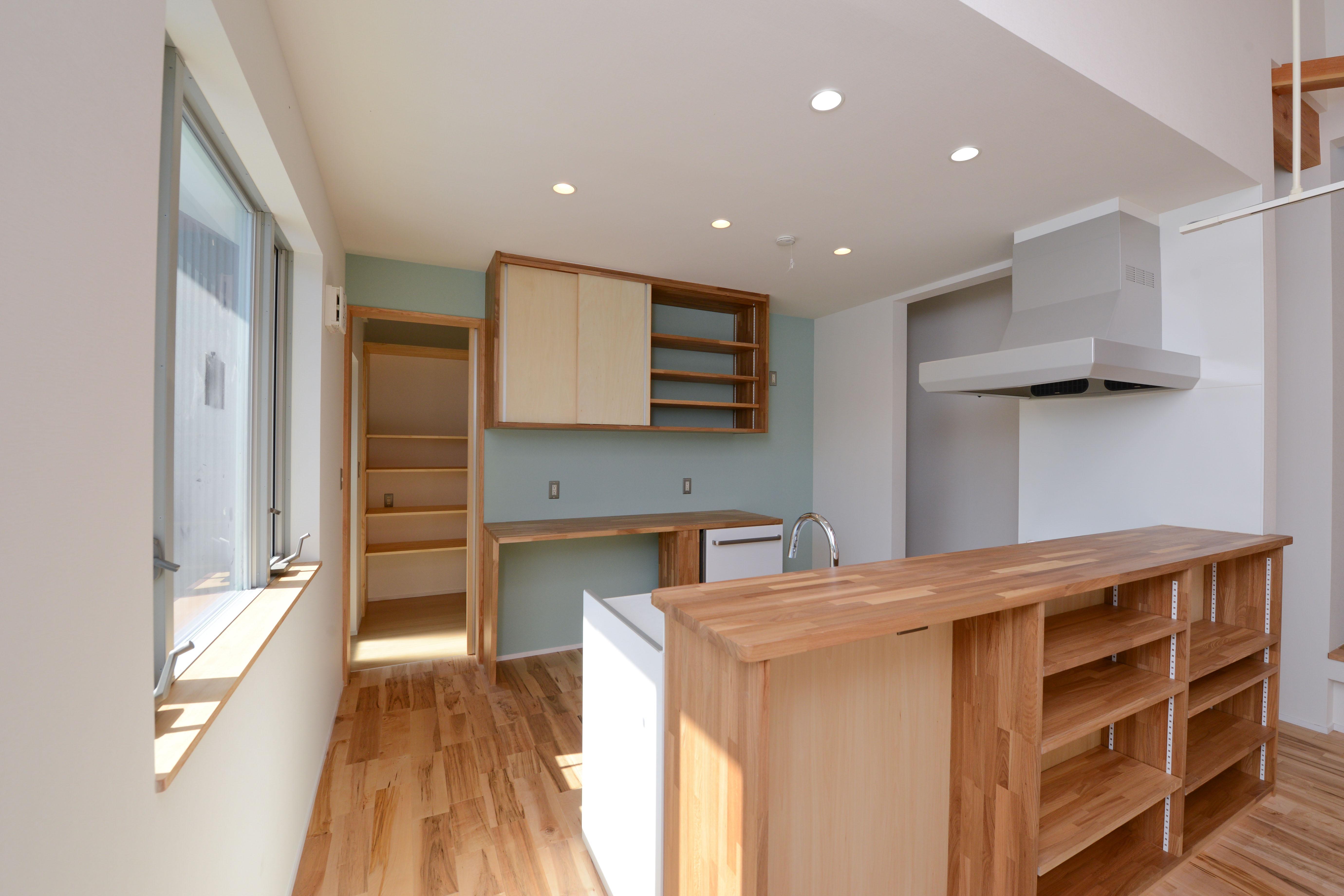豊田市の家2の部屋 収納たっぷりのキッチン