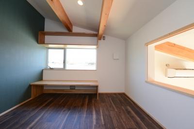 リビングと会話のできる洋室 (豊田市の家2)