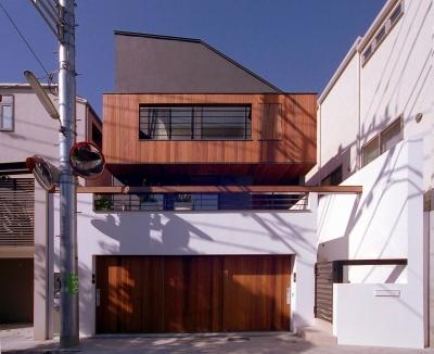 オープンテラスの家・OPEN TERRACE HOUSE (外観1)