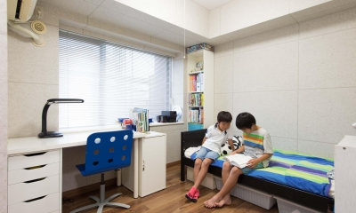 ご家族の生活スタイルに合わせて、中古マンションを全面改装 (子ども部屋)