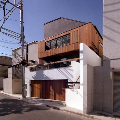 オープンテラスの家・OPEN TERRACE HOUSE 東京都世田谷区 (外観2)
