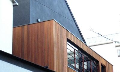 オープンテラスの家・OPEN TERRACE HOUSE 東京都世田谷区 (外観3)