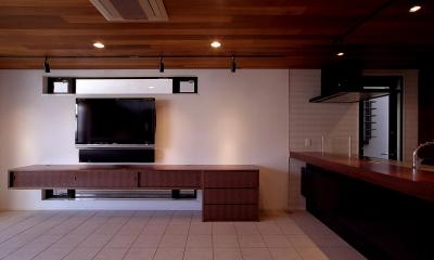 オープンテラスの家・OPEN TERRACE HOUSE 東京都世田谷区 (リビング・ダイニング・キッチン)