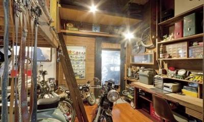 インナーガレージ|趣味と暮らすガレージハウス