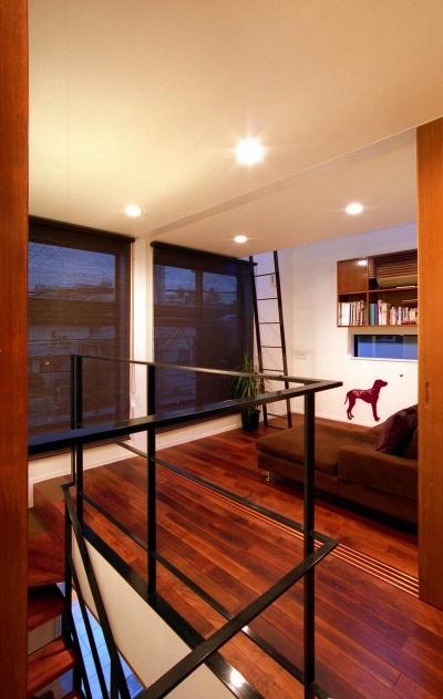 オープンテラスの家・OPEN TERRACE HOUSE (階段ホール・セカンドリビング)