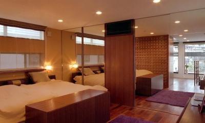 オープンテラスの家・OPEN TERRACE HOUSE 東京都世田谷区 (寝室1)