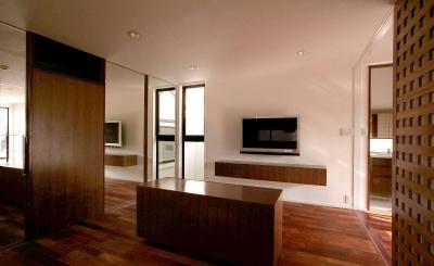 オープンテラスの家・OPEN TERRACE HOUSE (寝室3)