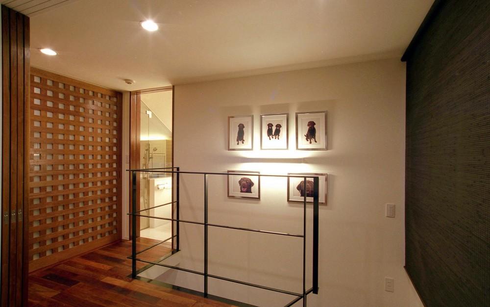 オープンテラスの家・OPEN TERRACE HOUSE 東京都世田谷区 (階段ホール)