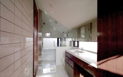 オープンテラスの家・OPEN TERRACE HOUSE (洗面・浴室・W.C.・ユーティリティ)