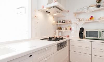 キッチン|「フランス郊外の家」をテーマに戸建てを全面リフォーム