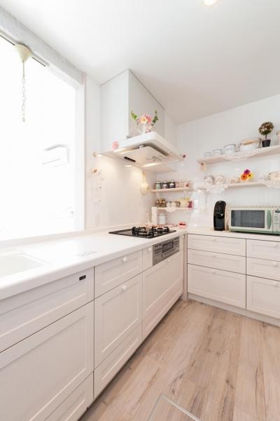 「フランス郊外の家」をテーマに戸建てを全面リフォーム (キッチン)