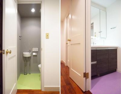 荻窪のマンションリノベーション (洗面トイレ)