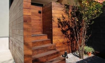 ウッドテラスの家・WOOD TERRACE HOUSE 東京都杉並区 (アプローチ1)
