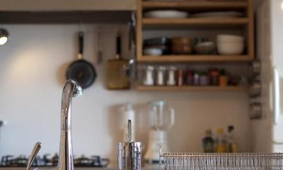 g'appa-廊下をつくらず、洗面所もオープンに (キッチン)