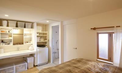 g'appa-廊下をつくらず、洗面所もオープンに (寝室)