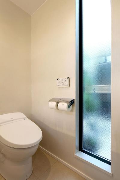 洗面・浴室・W.C.・ユーティリティ (ウッドテラスの家・WOOD TERRACE HOUSE 東京都杉並区)