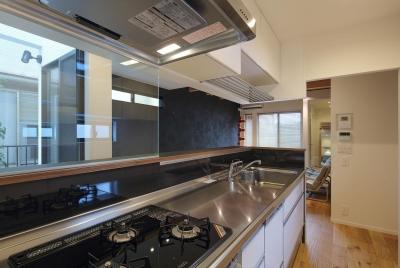 ウッドテラスの家・WOOD TERRACE HOUSE 東京都杉並区 (キッチン)