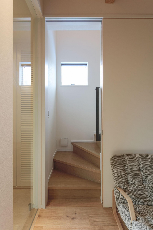 ウッドテラスの家・WOOD TERRACE HOUSE (階段1)