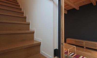 ウッドテラスの家・WOOD TERRACE HOUSE 東京都杉並区 (階段2)