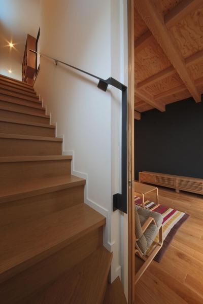 ウッドテラスの家・WOOD TERRACE HOUSE (階段2)