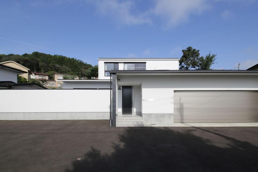 中庭を囲む高気密高断熱住宅・T-HOUSE morioka (外観2)
