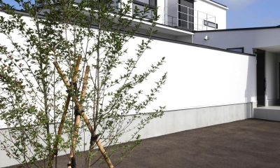 中庭を囲む高気密高断熱住宅・T-HOUSE morioka (外観3)