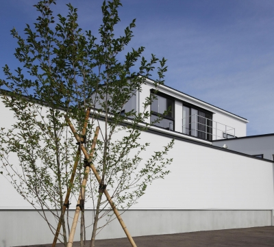 中庭を囲む高気密高断熱住宅・T-HOUSE morioka (外観4)