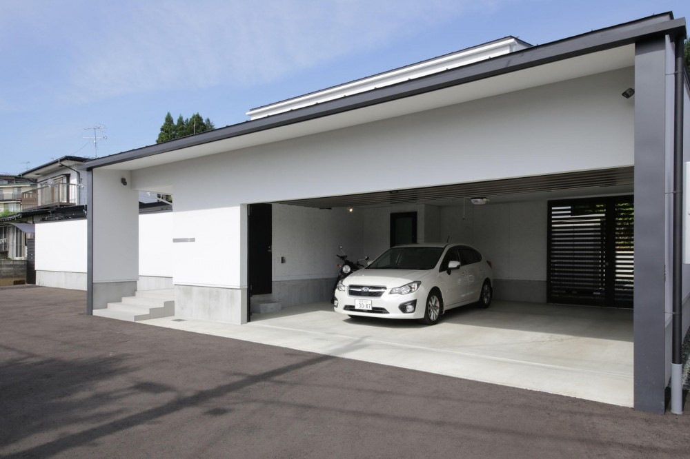 中庭を囲む高気密高断熱住宅・T-HOUSE morioka (外観6)