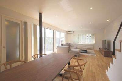 中庭を囲む高気密高断熱住宅・T-HOUSE morioka (LDK3)