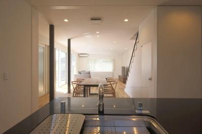 中庭を囲む高気密高断熱住宅・T-HOUSE morioka (キッチン)