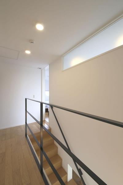 2F 階段ホール (中庭を囲む高気密高断熱住宅・T-HOUSE morioka)