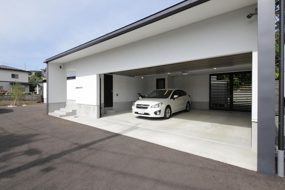 中庭を囲む高気密高断熱住宅・T-HOUSE morioka (ガレージ1)