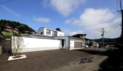 中庭を囲む高気密高断熱住宅・T-HOUSE morioka (外観8)