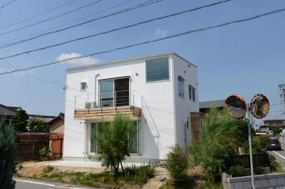刈谷市の家3 (白い外観)