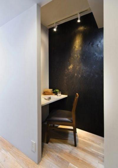 洋室 (素材で仕切るやわらかな空間。)