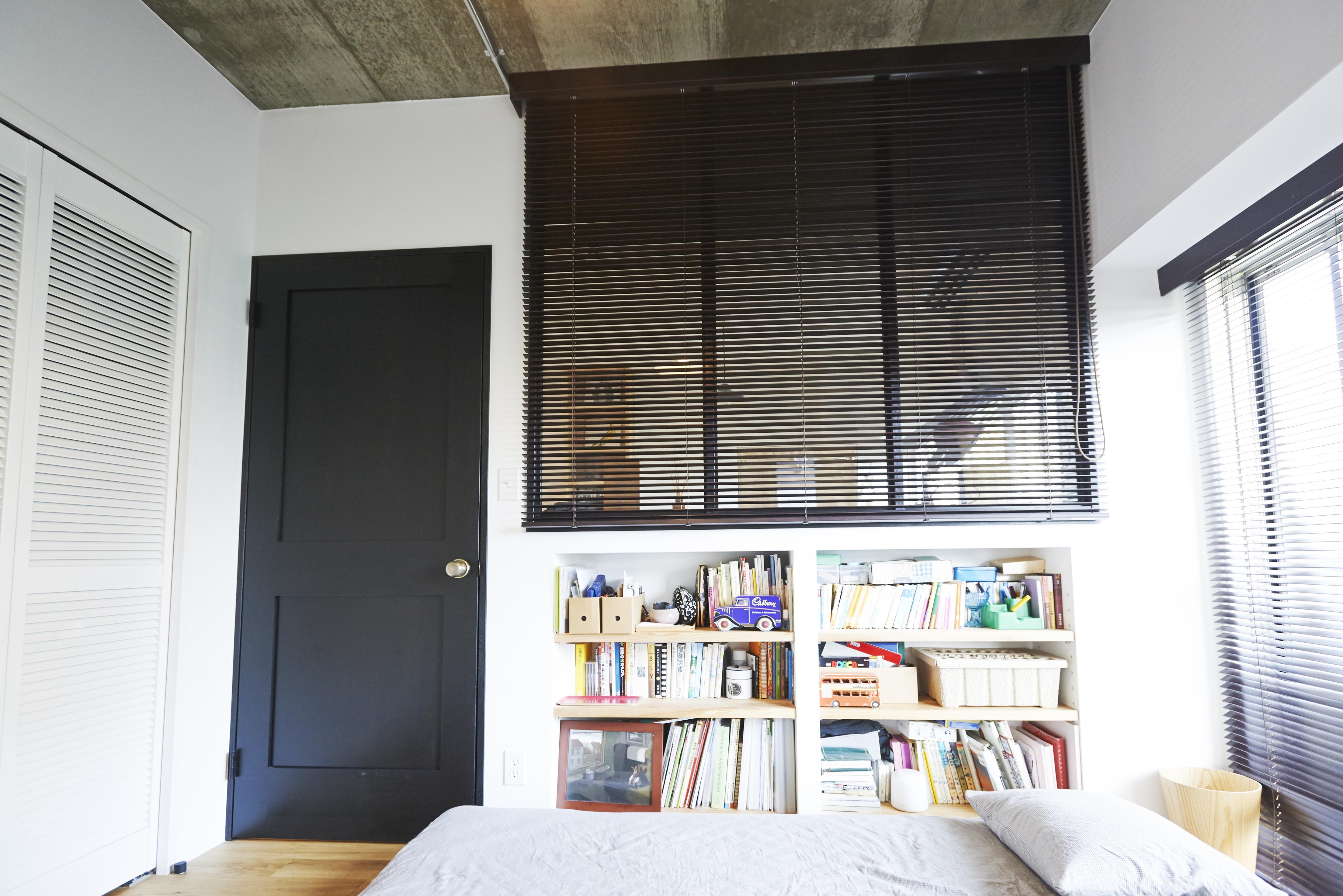 ニューヨークのアパートの部屋 寝室