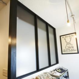 ニューヨークのアパート-玄関