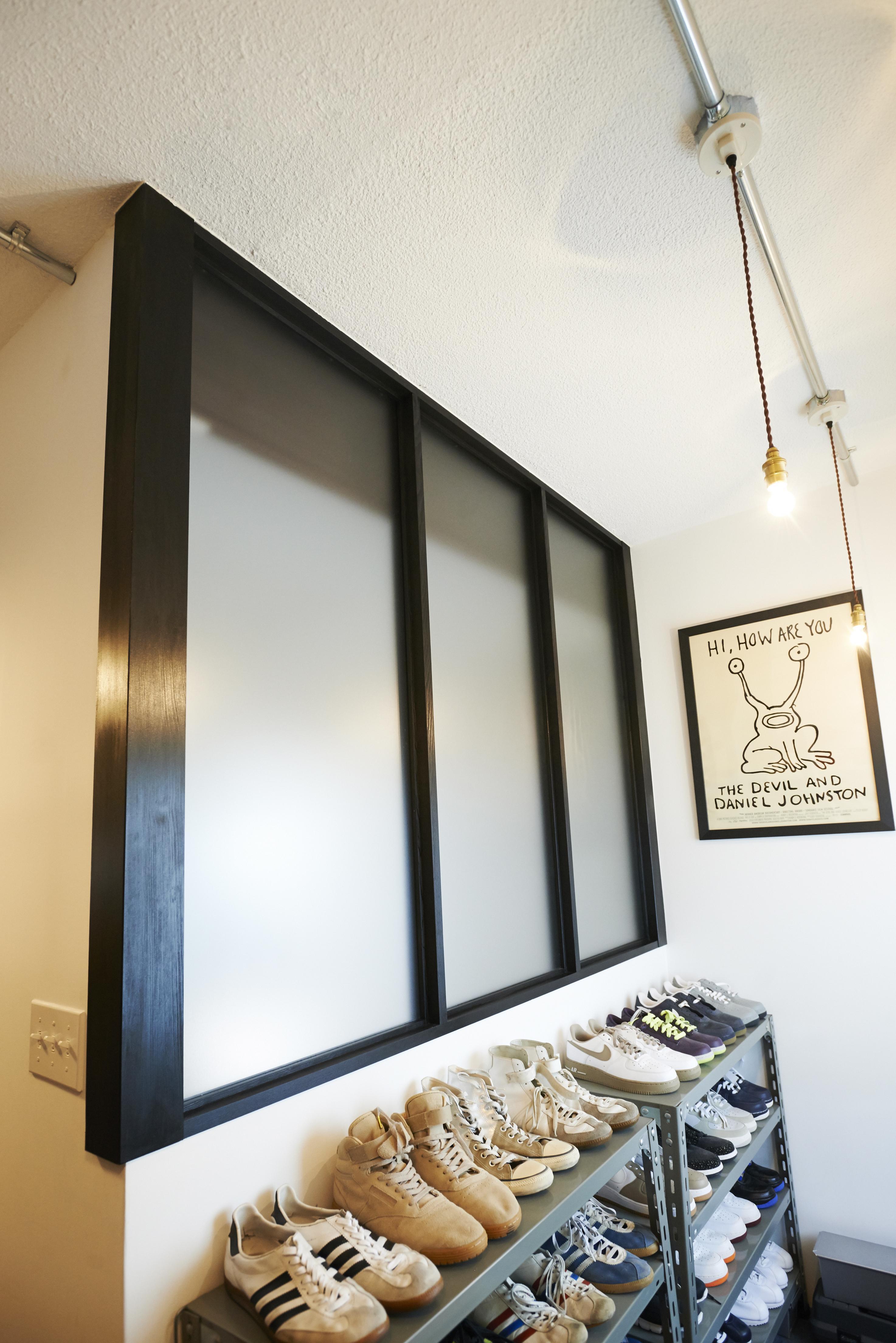 ニューヨークのアパートの部屋 玄関